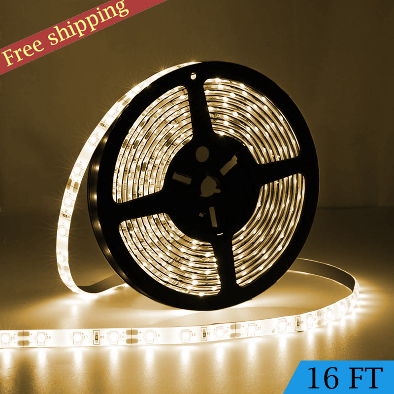 Bright White 5M 2835 Waterproof/&Cuttable Flexible LED Strip Light 300Leds 12V