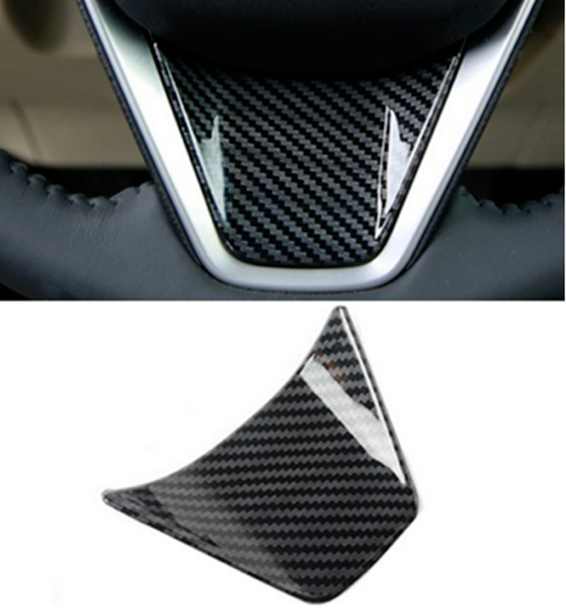 For 2018 TOYOTA CAMRY Carbon Fiber Interior Steering Wheel Patch Cover Trim 3pc