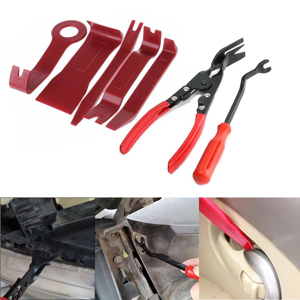 16x Plastic Car Radio Door Clip Panel Trim Dash Audio Removal Pry Kit Tool nice