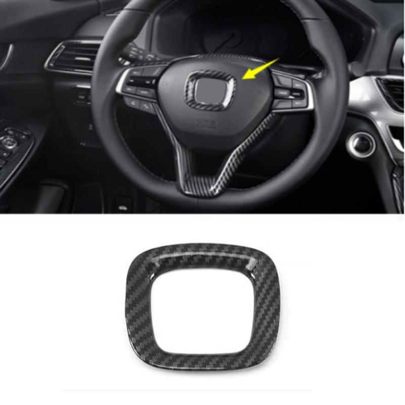 3PCS ABS Carbon Fiber Interior Steering Wheel Trim For Honda CIVIC 2016-2018