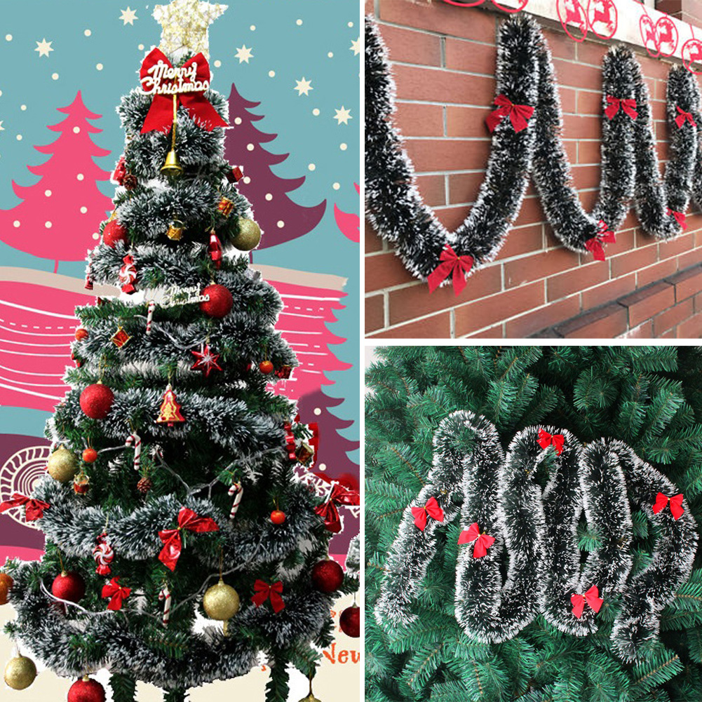 Details About 2m Chunky Xmas Tinsel Garland Home Party Wall Decor Christmas Tree Ornaments Tp