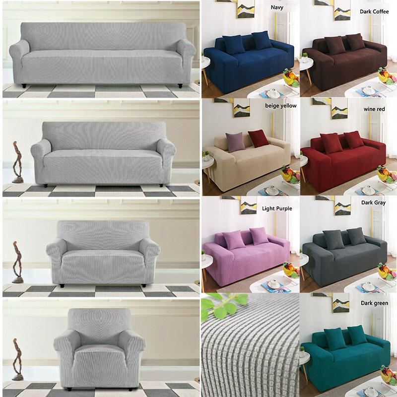 1 4 Seats Stretch Elastic Fabric Sofa