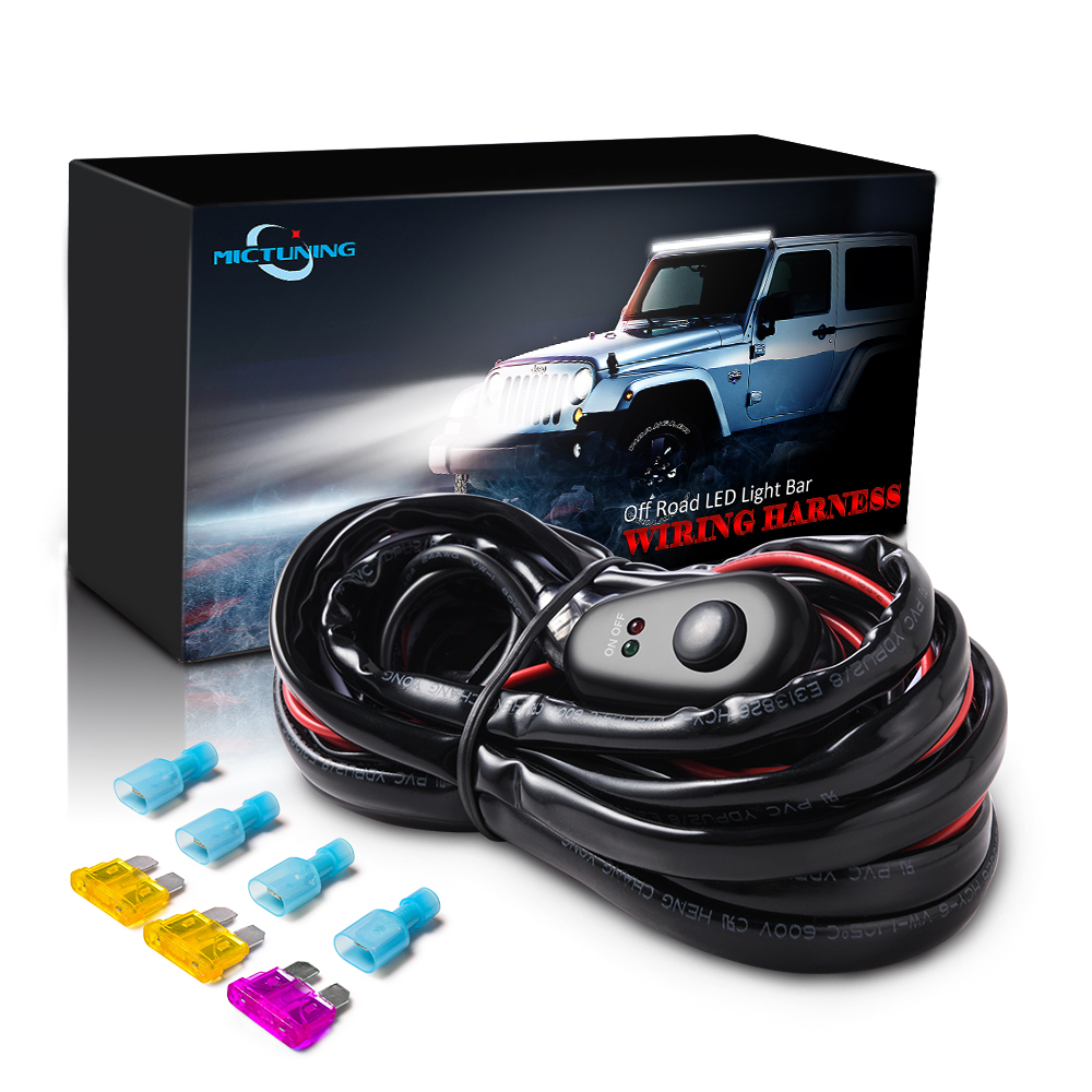 Details about 12ft LED Light Bar Wiring Harness Kit Off Road 40 Amp on