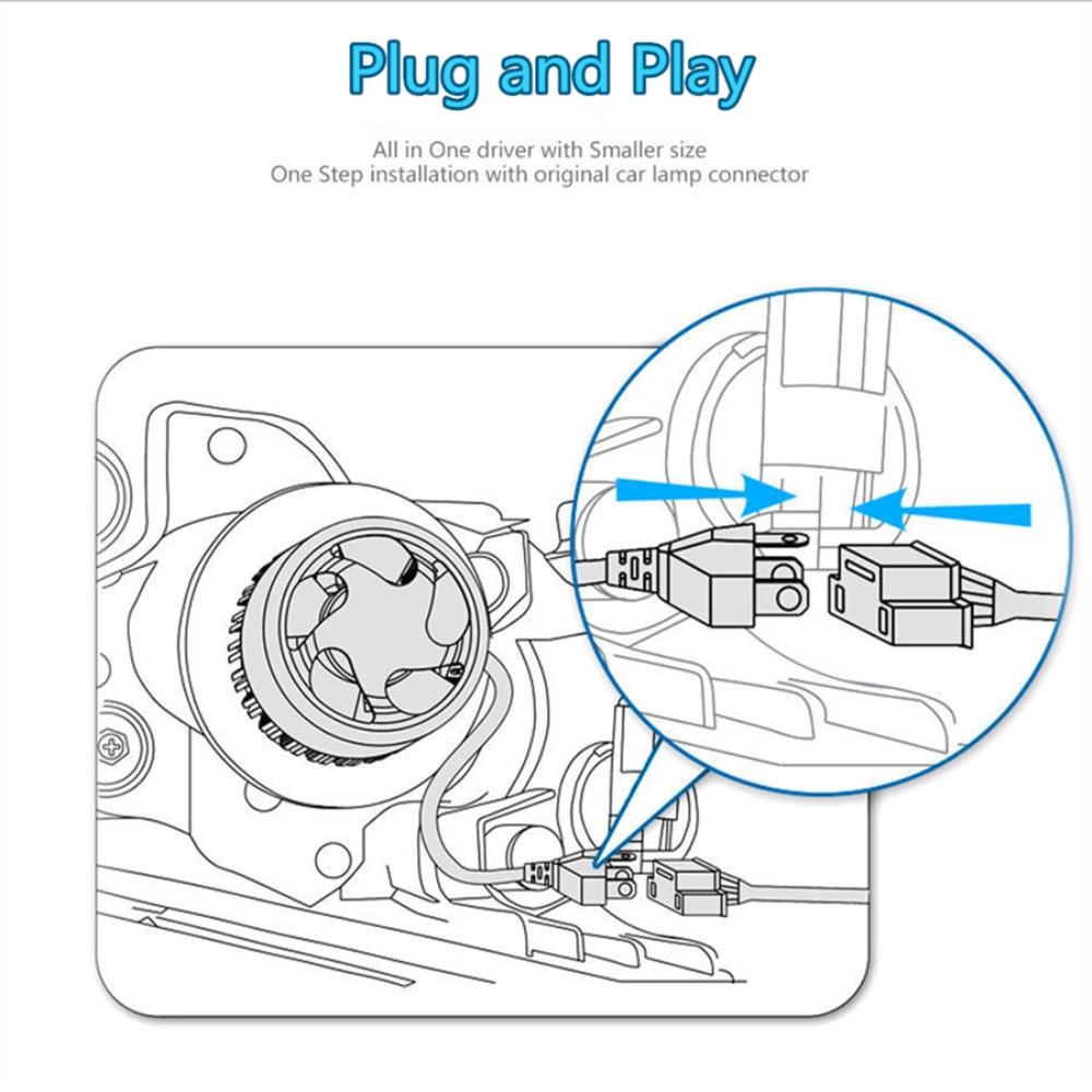 Pair Low Beam Led Headlight Bulbs Kit For Kenworth T370 T660 T600 Wiring Diagram T270 T800 T470