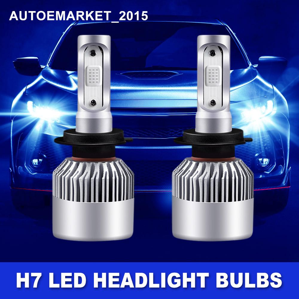 Beam Details Car Cree Front Lamp Blue Low 2X Kit LED H7 12000K 400W about Headlight High Bulb hrtoCsQdxB