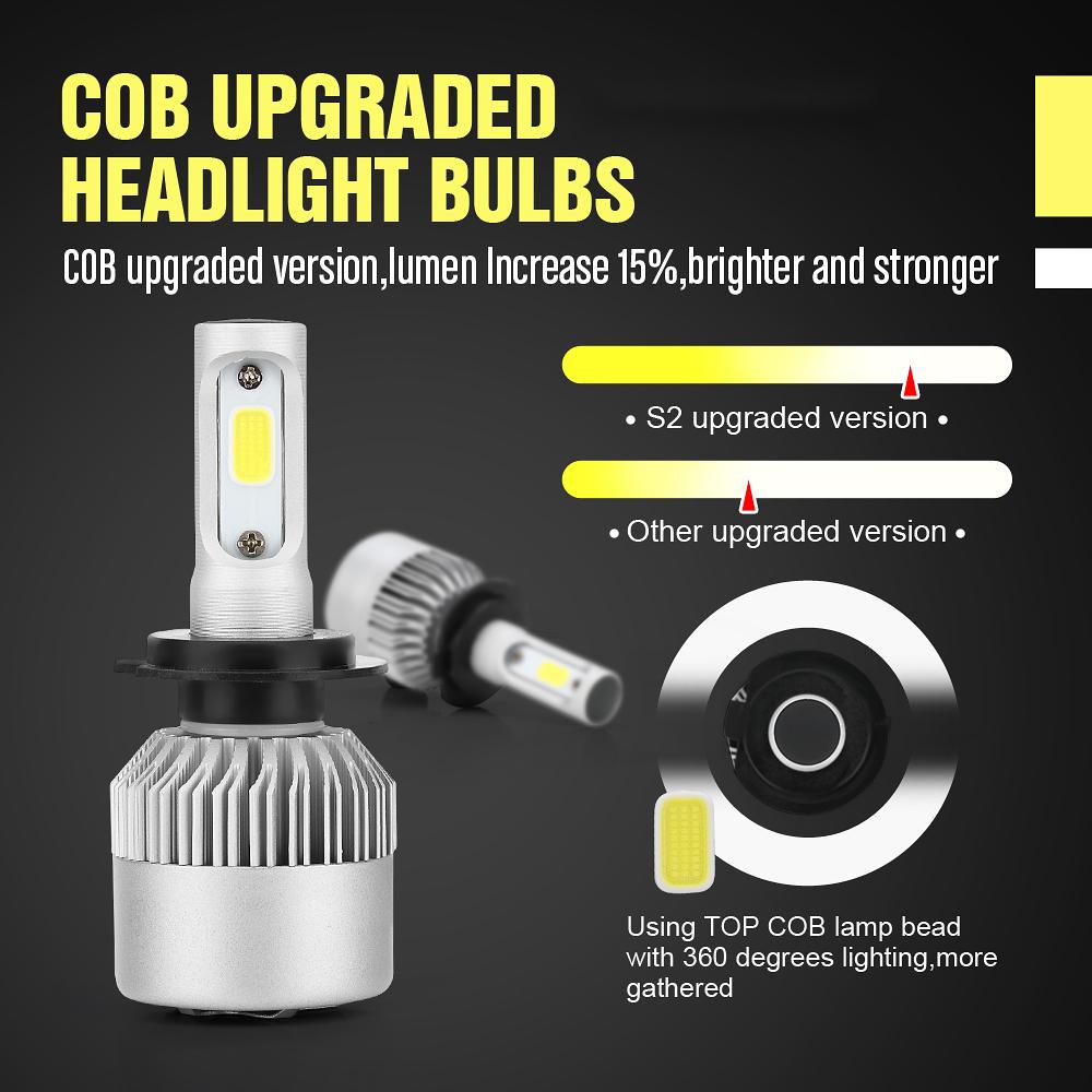 H7 H11 H11 Led Headlight Bulbs Fog Lights Combo For