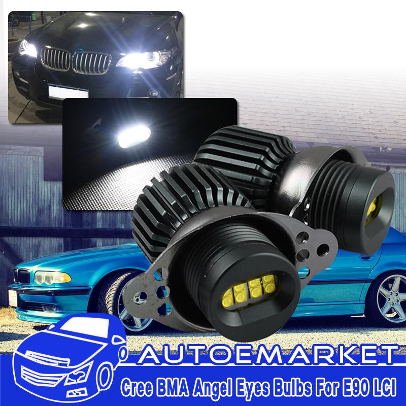 160W Total LED Angel Eye Halo Ring Light Bulb white For BMW E90 E91 Facelift LCI