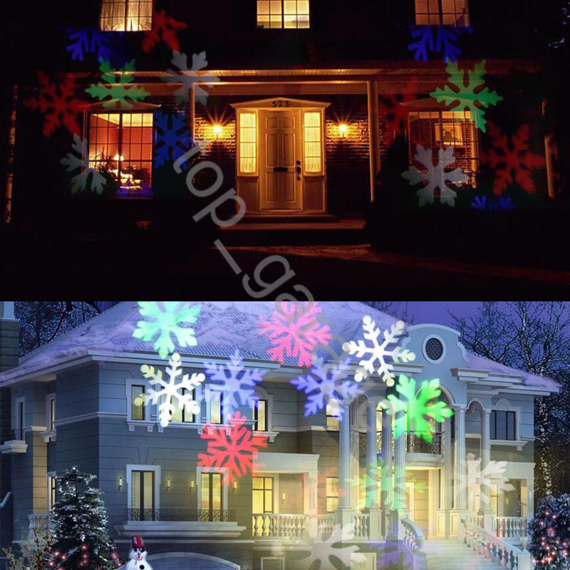 christmas moving rgb snowflake landscape led laser projector light xmas outdoor - Christmas Outdoor Projector