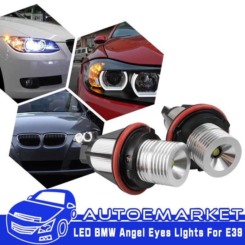 6000K Angel Eyes Halo 20W CREE LED Ring Marker Bulbs For BMW X5 E39 E60 E63 E61