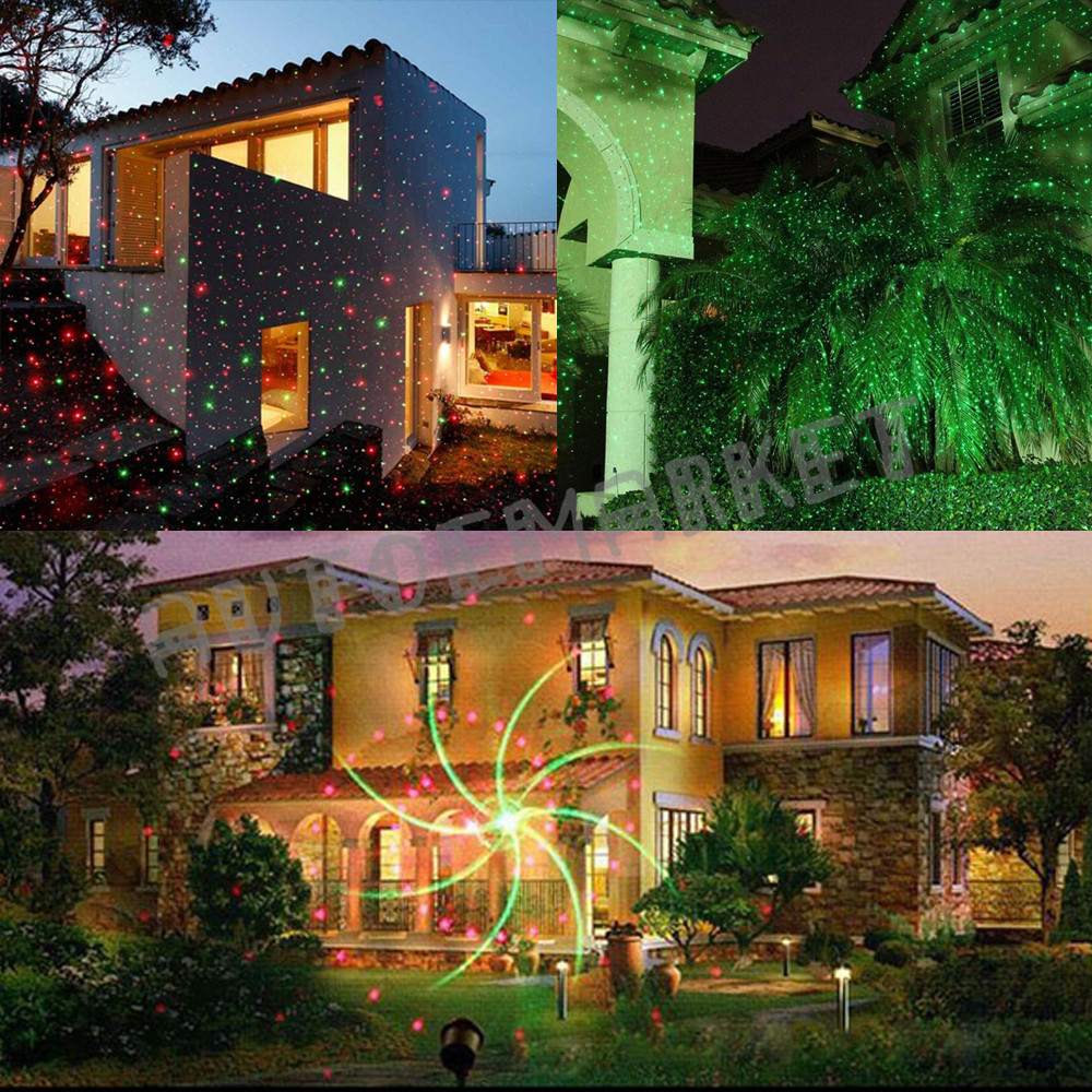 Outdoor Star Laser xmas Light Show LED Projector W/ Remote ...