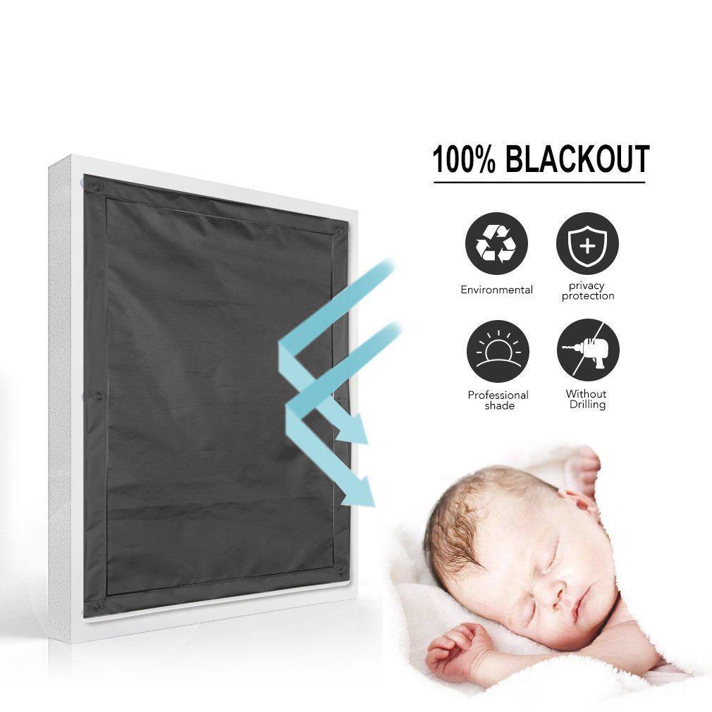 verdunkelung rollo sonnenrollo fensterrollo dachfenster saugnapf anti uv grau ebay. Black Bedroom Furniture Sets. Home Design Ideas