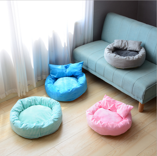 Cat Bed Pet Kennel House Cozy Warm Cushion Pad Puppy Cat