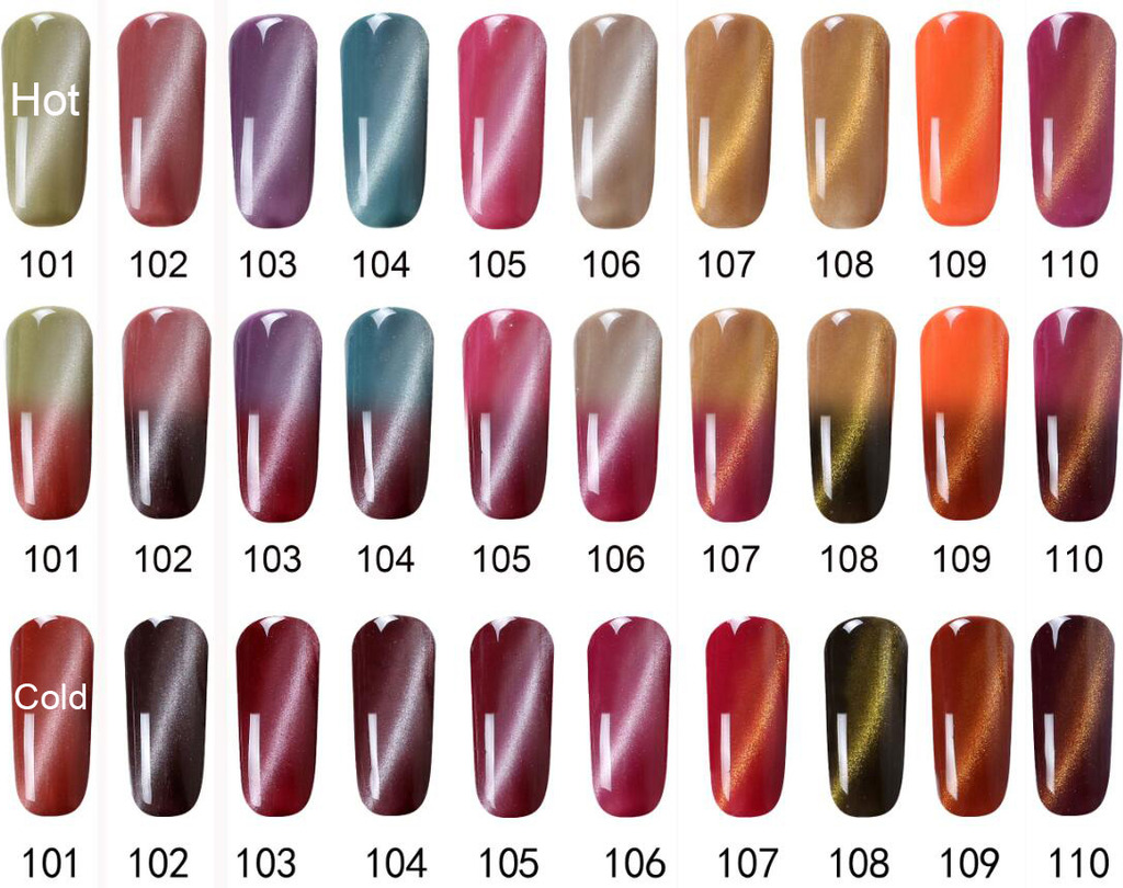 BEST LIVE 15ml Thermal Cat\'s Eye Magnetic Color Change Gel Nail ...