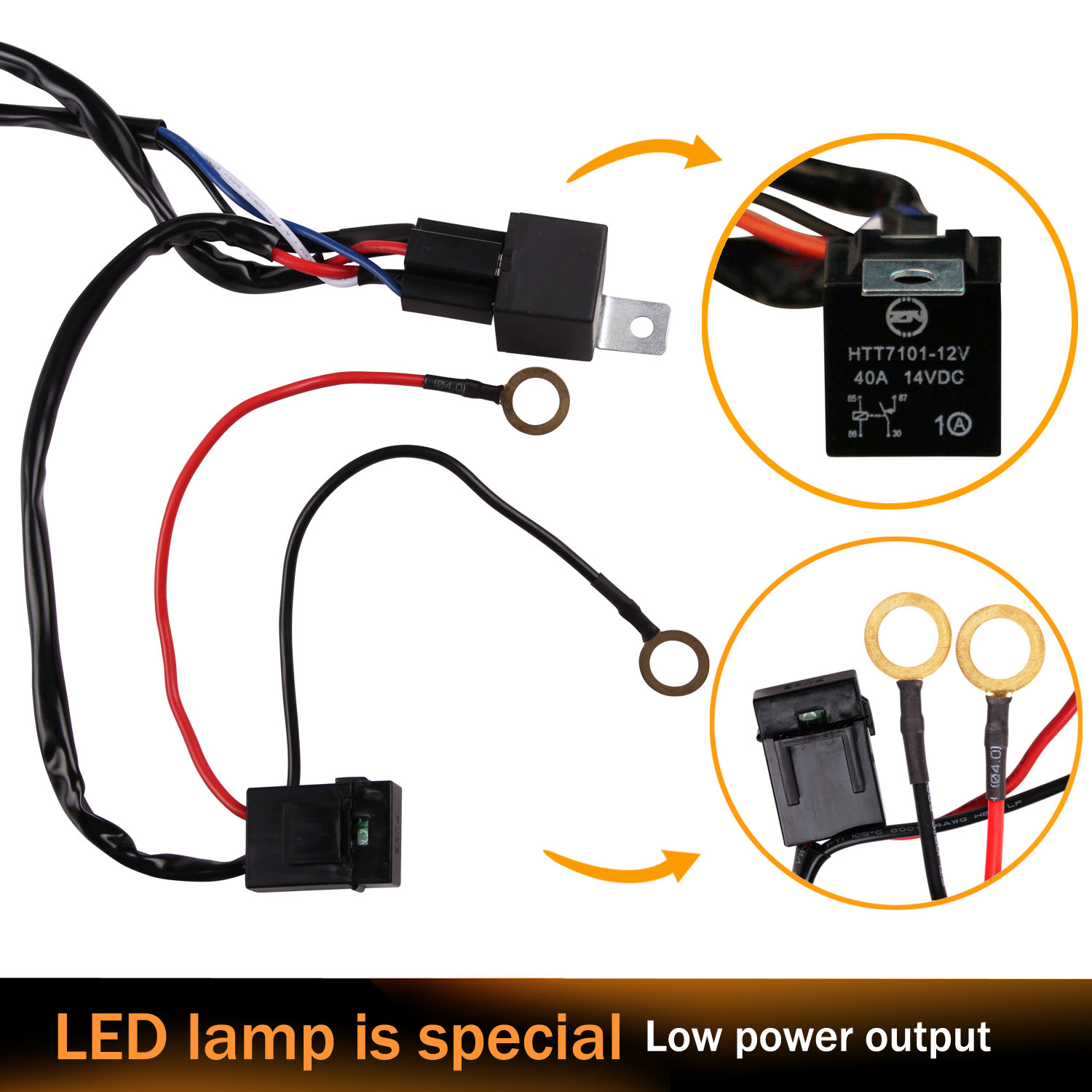 Led Light Bars Wiring Relay Harness New Switch Kits For Under 300w Bar