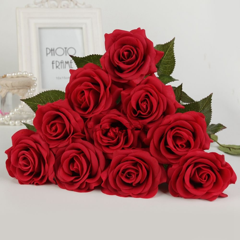10pcs 40pcs latex real touch rose 6cm flowers bouquet wedding home 10pcs 40pcs latex real touch rose 6cm flowers izmirmasajfo