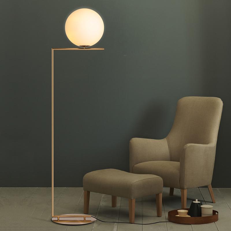 Gl Globe Led Br Linear Floor Lamp