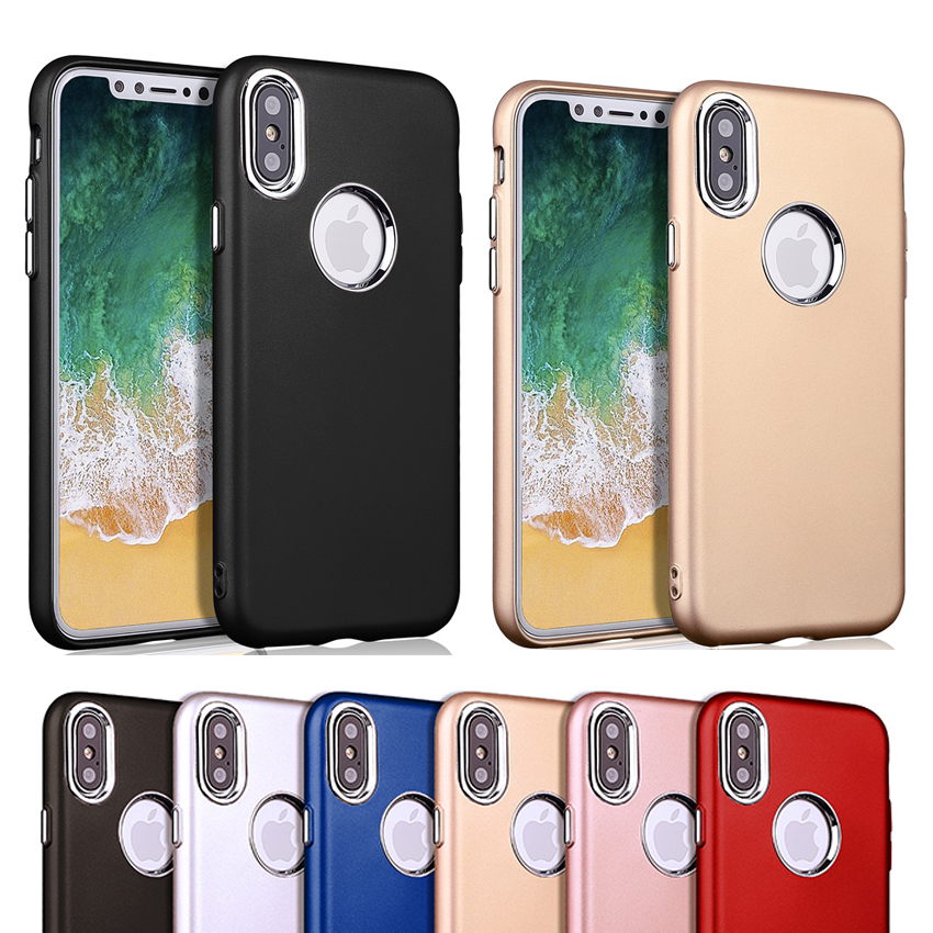 OPPO A57 A39 F5 A73 R11S R9S Case Pure Color Metal Buttom for iPhone X Gel Cover, Please click the picture to buy it now.