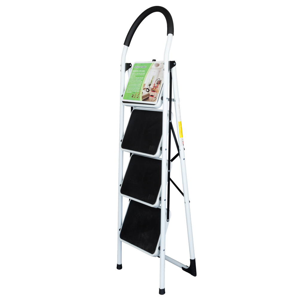 2 3 4 Step Ladder Folding Stool Heavy Duty 330lb Capacity