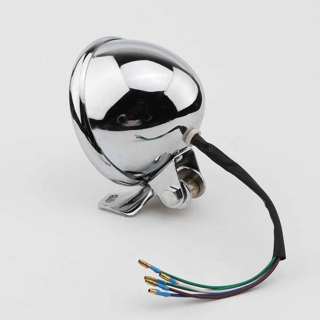 5 Chrome Motorcycle Headlight For Honda Shadow Spirit Deluxe Electrical Wiring Diagram Of 1992 Suzuki Vs800 Intruder Us And Canada Part 2 Aftermarket Parts