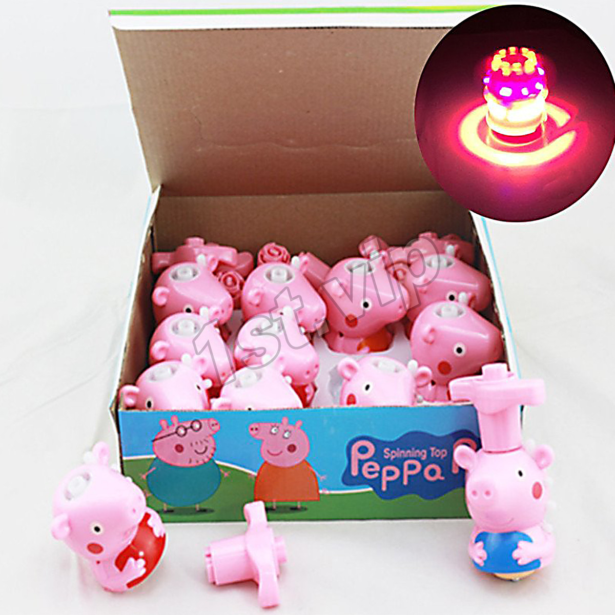 Best Peppa Pig Toys : Peppa pig figures led light music spinning gyro peg