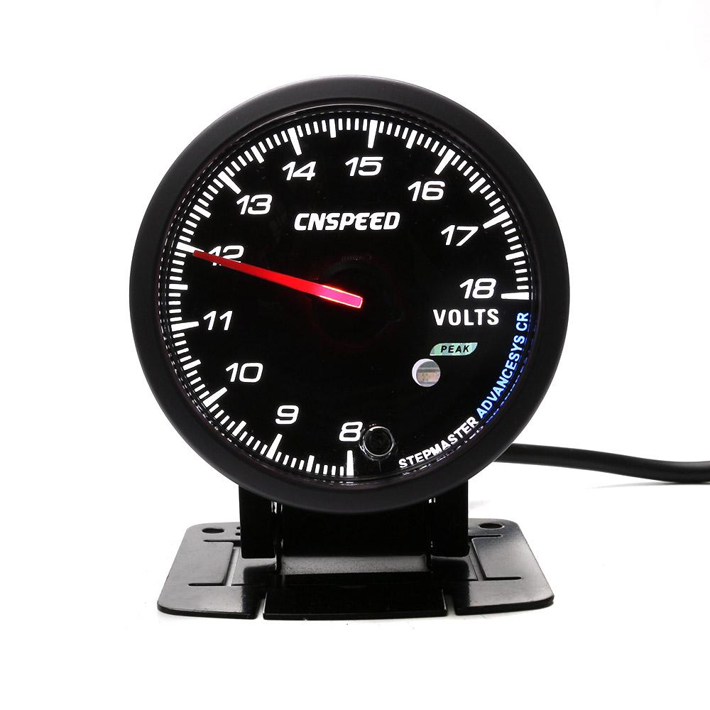 """2.5/"""" 60MM Car Auto Voltmeter 8-18 Volt Voltage Gauge Pointer Meter with Bracket"""