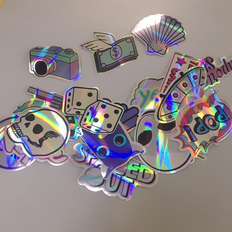 20 Cool Flash Stickers Graffiti Waterproof Decals Bomb Laptop Skateboard Luggage