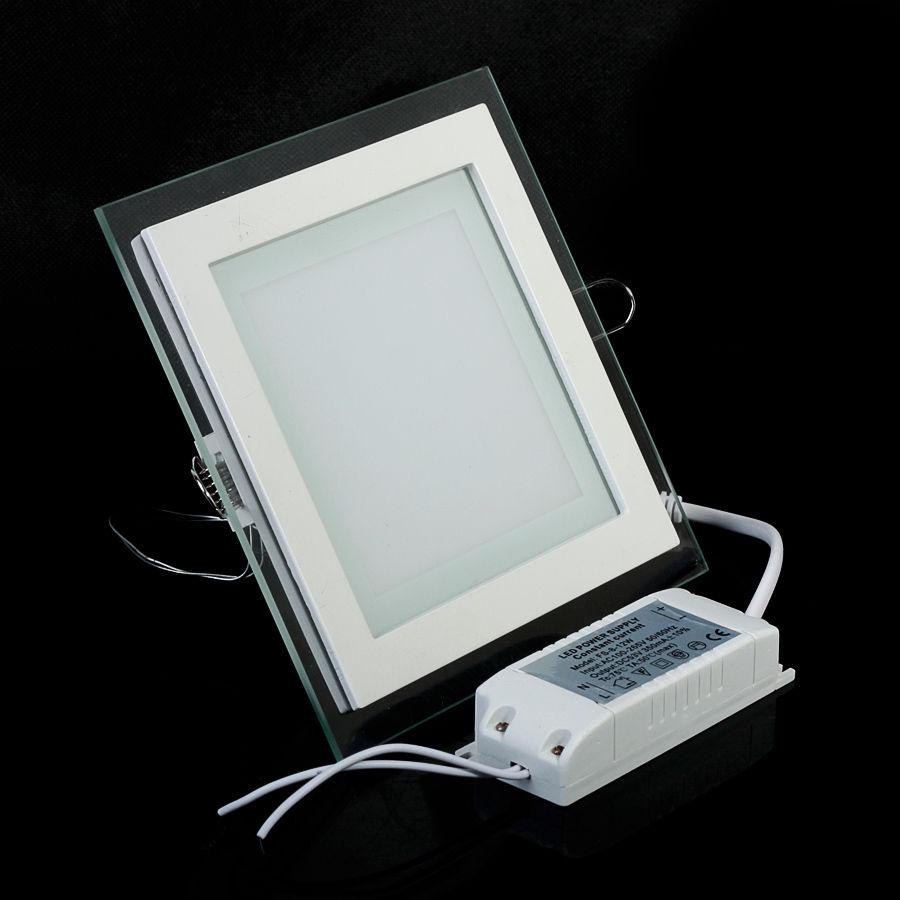 4X 9W Dimmbar Acryl LED Panel Einbaustrahler Deckenleuchte Einbau ...