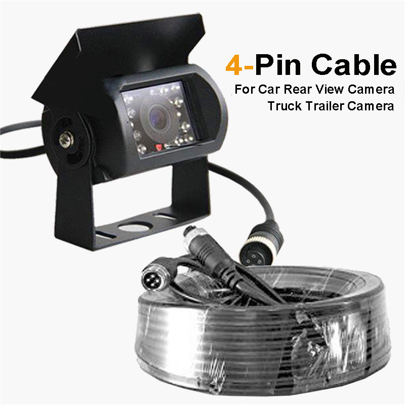 4 Pin Cable 10m 15m 20m Wiring Kit For Car Rear View