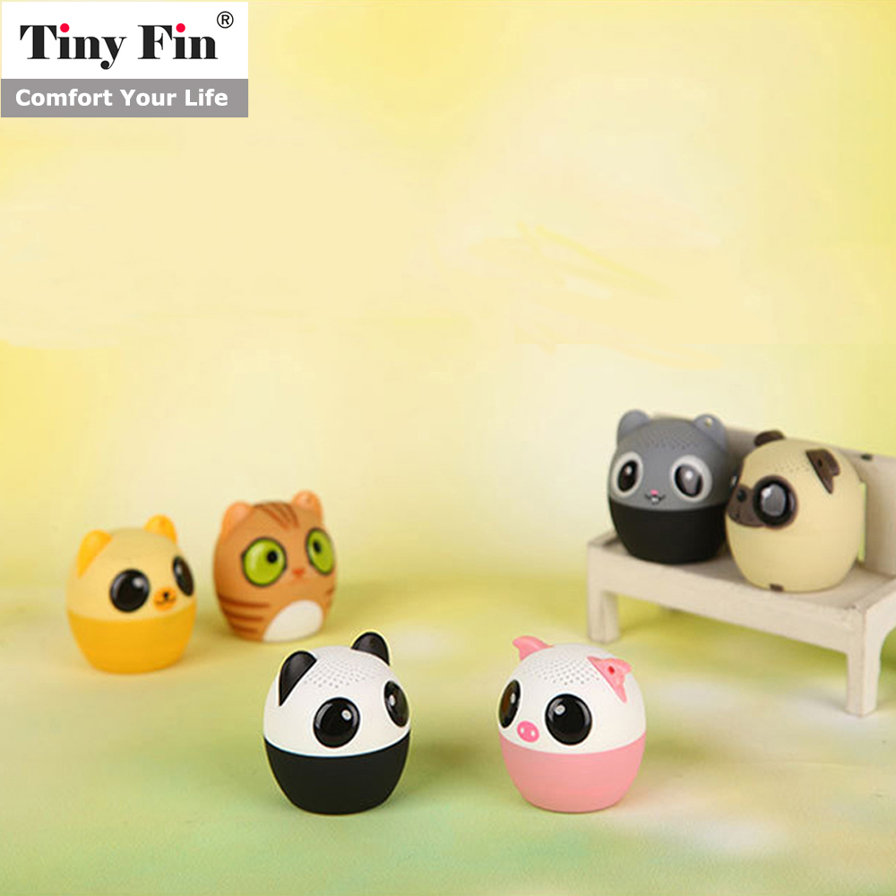 Tiny Fin Mini Bluetooth Wireless Animal Pet Speaker Selfie Remote for cellphone