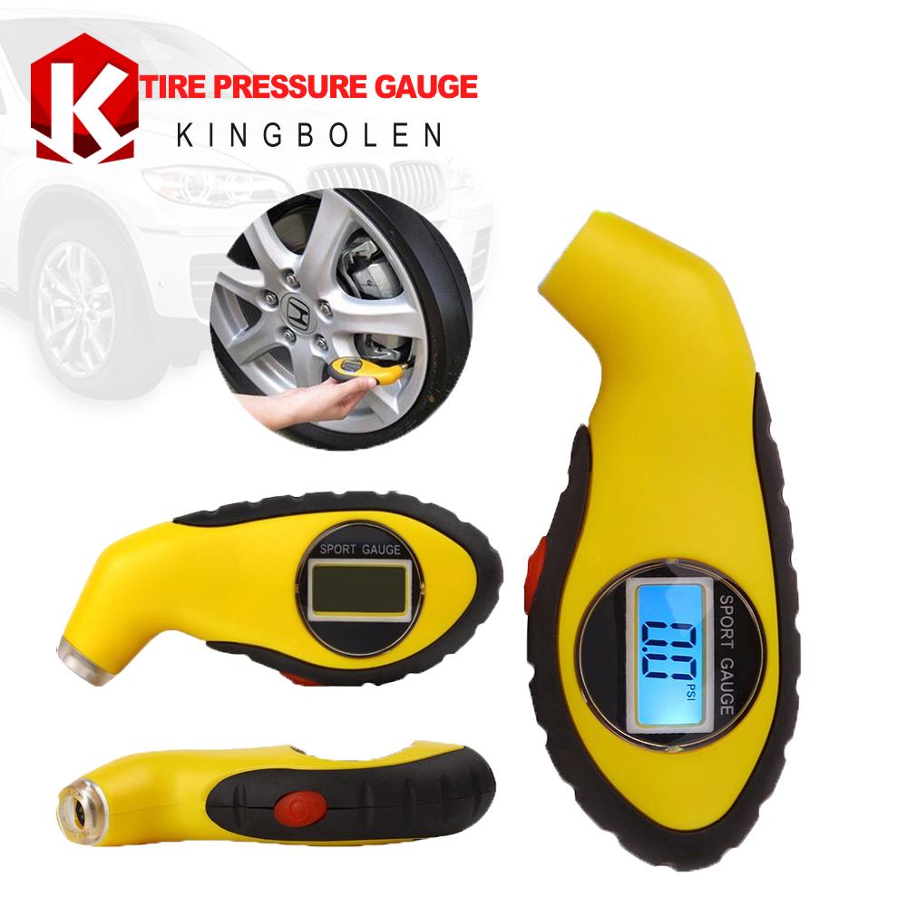 KIMISS Tire Tyre Pressure Gauge Meter Tester Tool Kit for Car Truck Motorcycle Bike