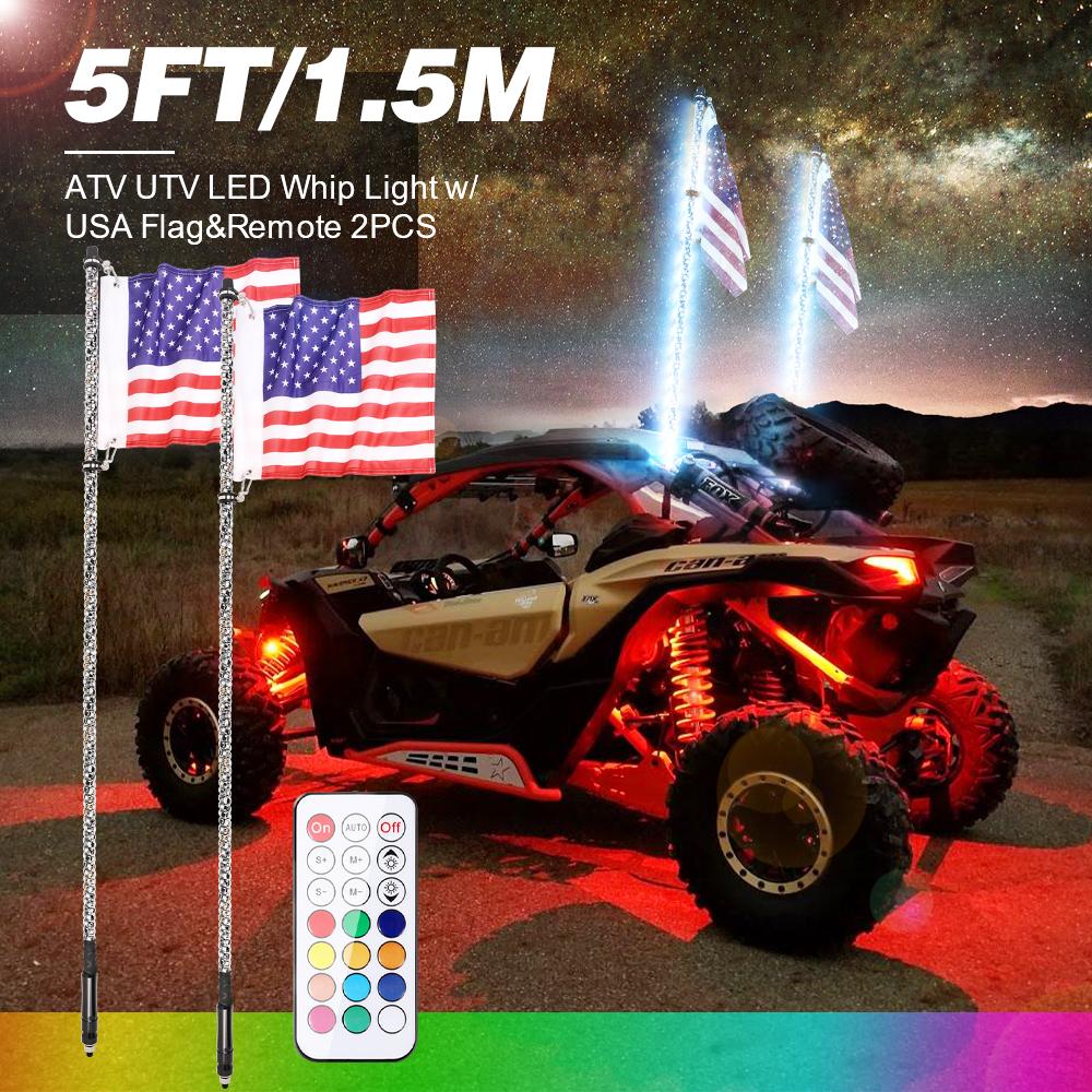 Whip  Antenna Flag UTV ATV for Can-Am Polaris RZR 1000