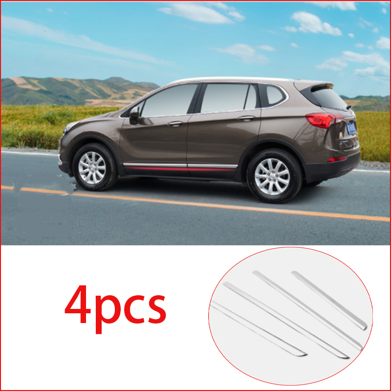 For Buick Envision 2017-2019 Stainless steel Bumper Lower Guard Cover Trim