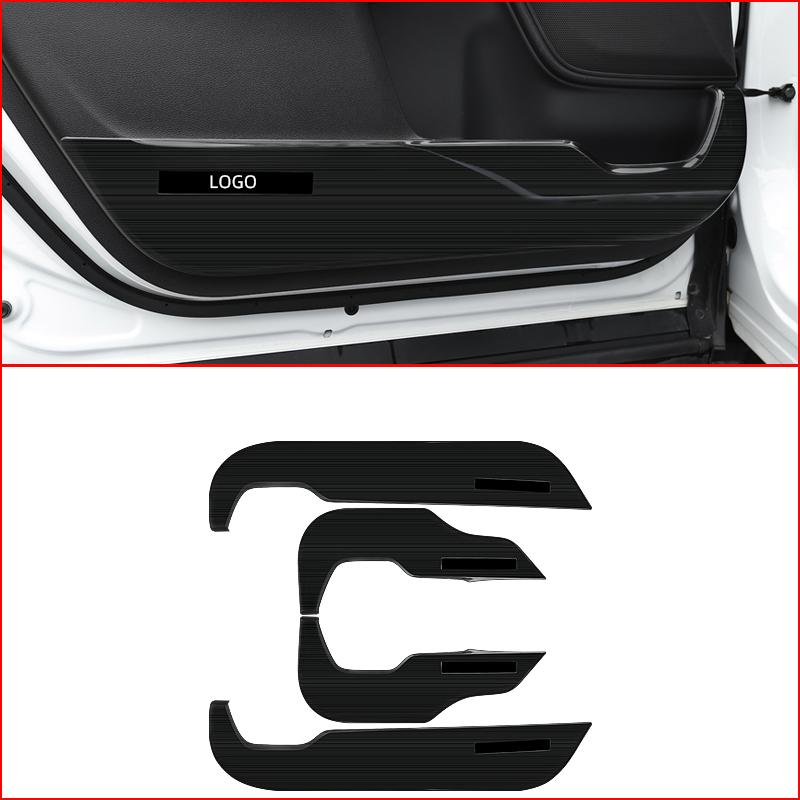 For Honda CRV CR-V 2017-2019 ABS Black titanium Inner Steering wheel cover trim