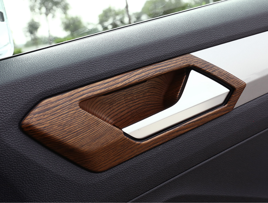 Carbon Fiber Outer Door Handle Bowl Cover Trim For Volkswagen VW T-ROC 2018