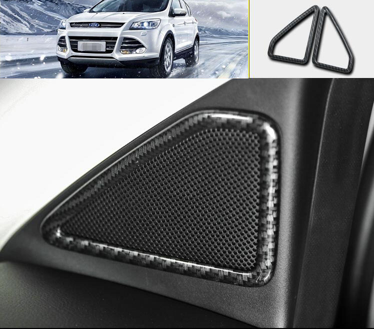 Chrome Trim A Pillar Speaker Cover For Ford Kuga Escape MK2 2013 14 15 16 2017