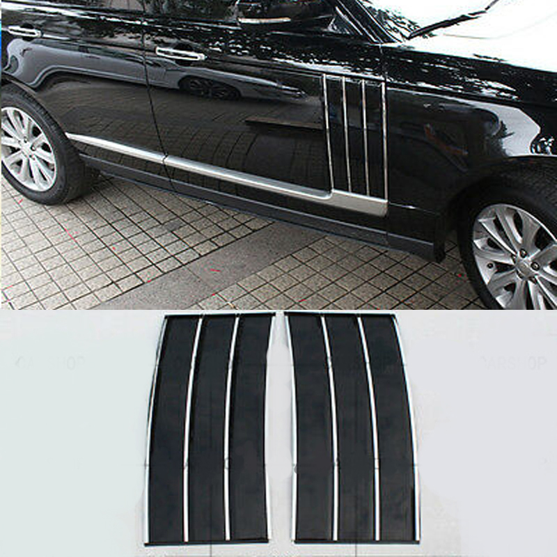 For Range Rover Vogue L405 Black Car Door Side Fender Grille Air Vent Cover