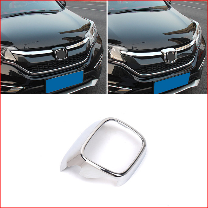 Chrome Front Grille Grill Logo Frame Cover Trim Lid For Honda CR-V CRV 2015 2016