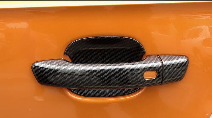 8PCS Carbon Fiber Outer Door Handle Cover Trim For Audi A3 8V 2014-2018
