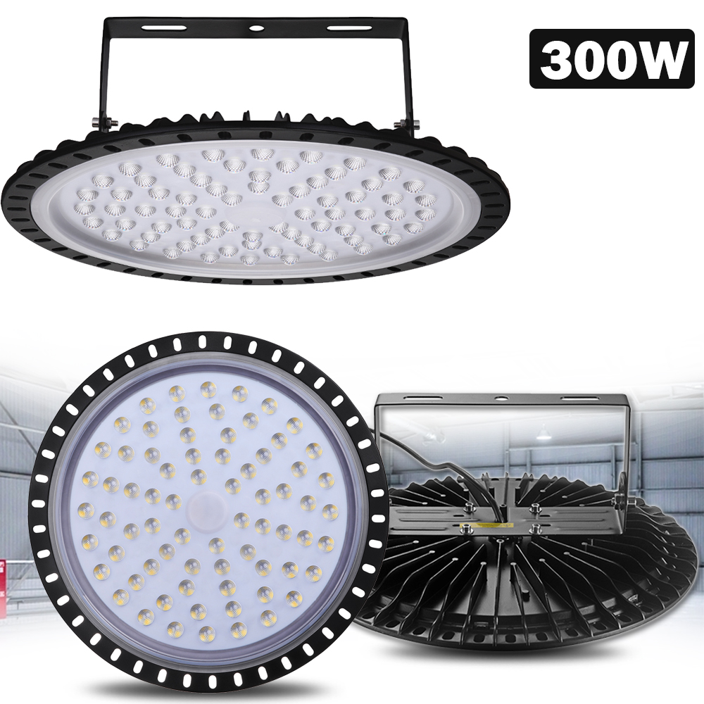 3x 300w Ufo Led High Low Bay Light Factory Warehouse: 1x 300W UFO LED High Bay Light Gym Factory Warehouse