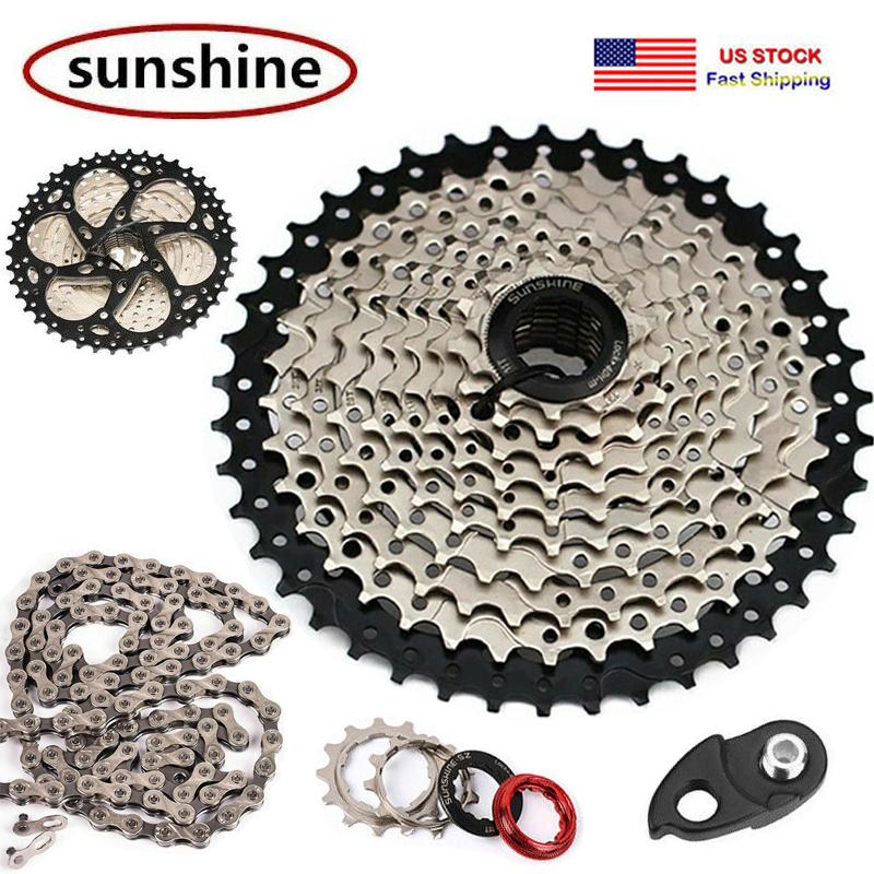 SUNRACE 8-11 Speed MTB Bike Cassette 11-40//42//46T KMC Sprocket Chain Hook Tail