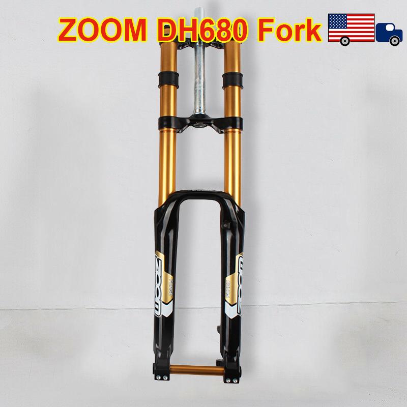 ZOOM Bike Fork 26er 170mm Travel Disc Brake TA Mountain MTB DH Straight Fork US