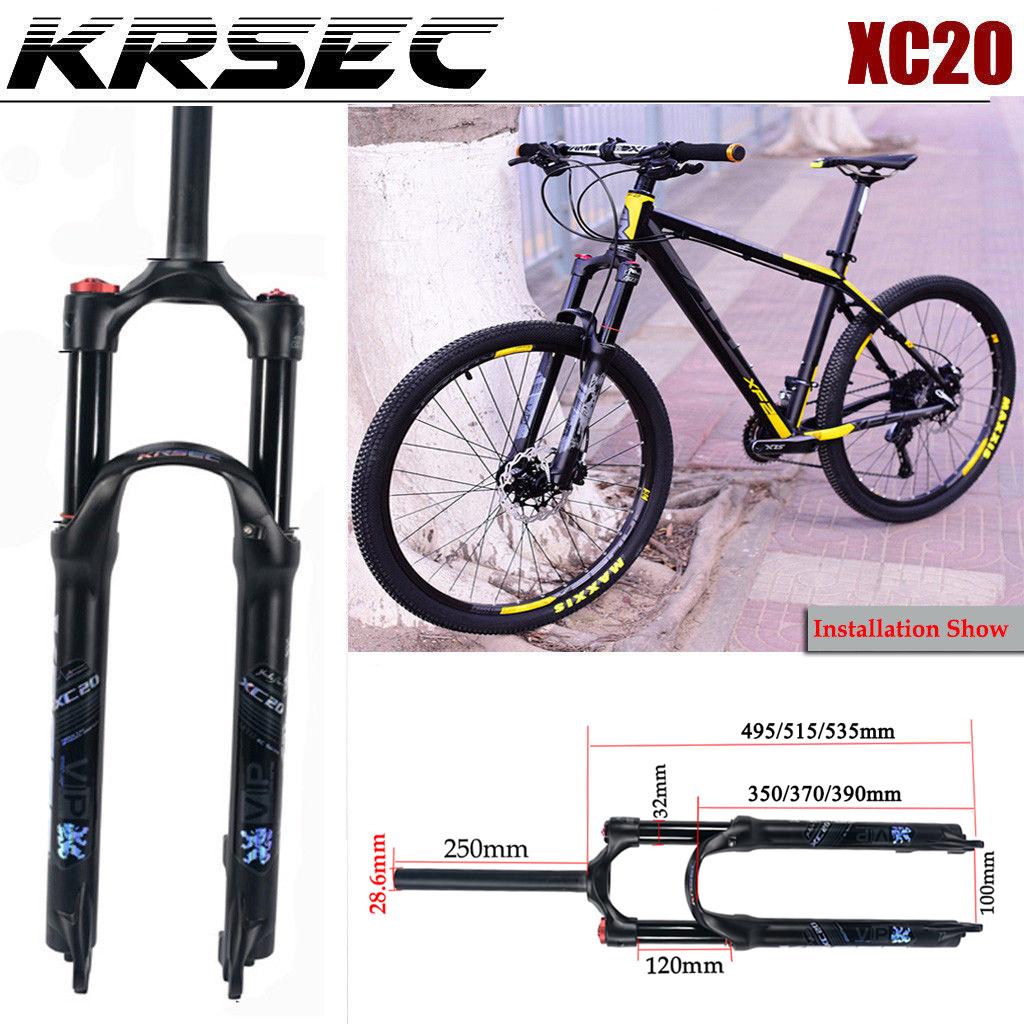 KRSEC Suspension Forks Shock Absorder Manual Lock Air Fork MTB Bike ...