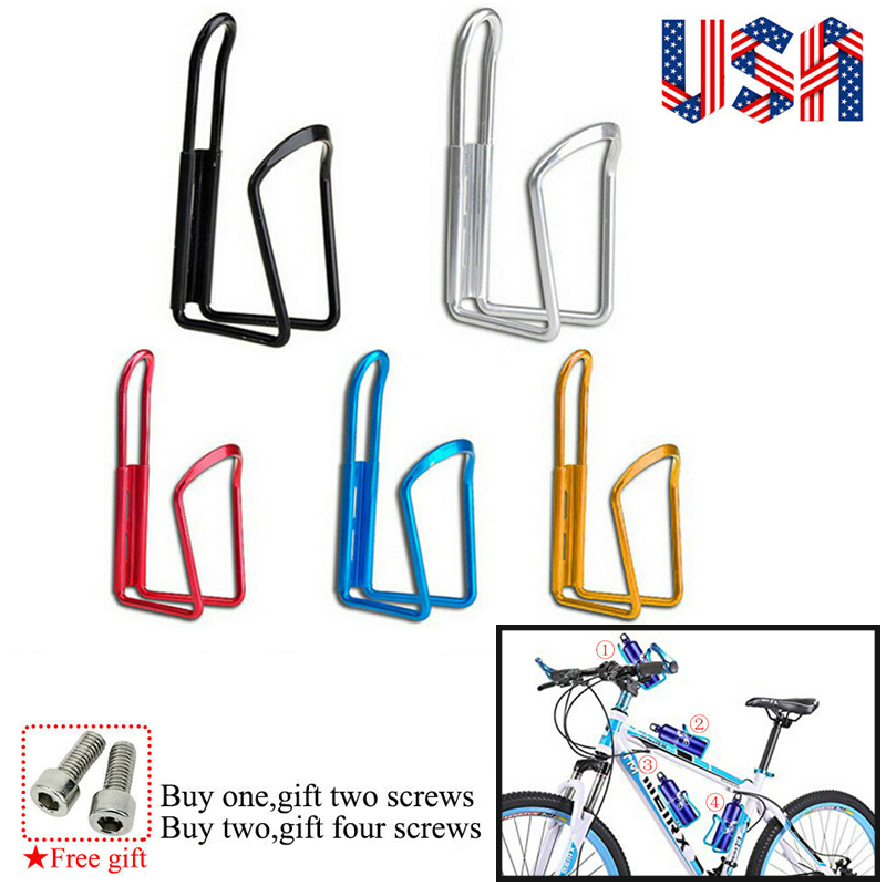 2PCS Ultralight Bike Aluminum Alloy Drink Water Bottle Bicycle Cup Holder Cages