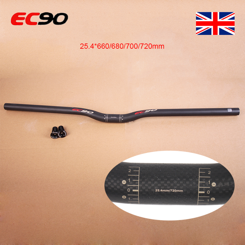 EC90 MTB Bike Flat//Riser Handlebar 31.8//25.4mm Full Carbon Fiber Bar End Plugs