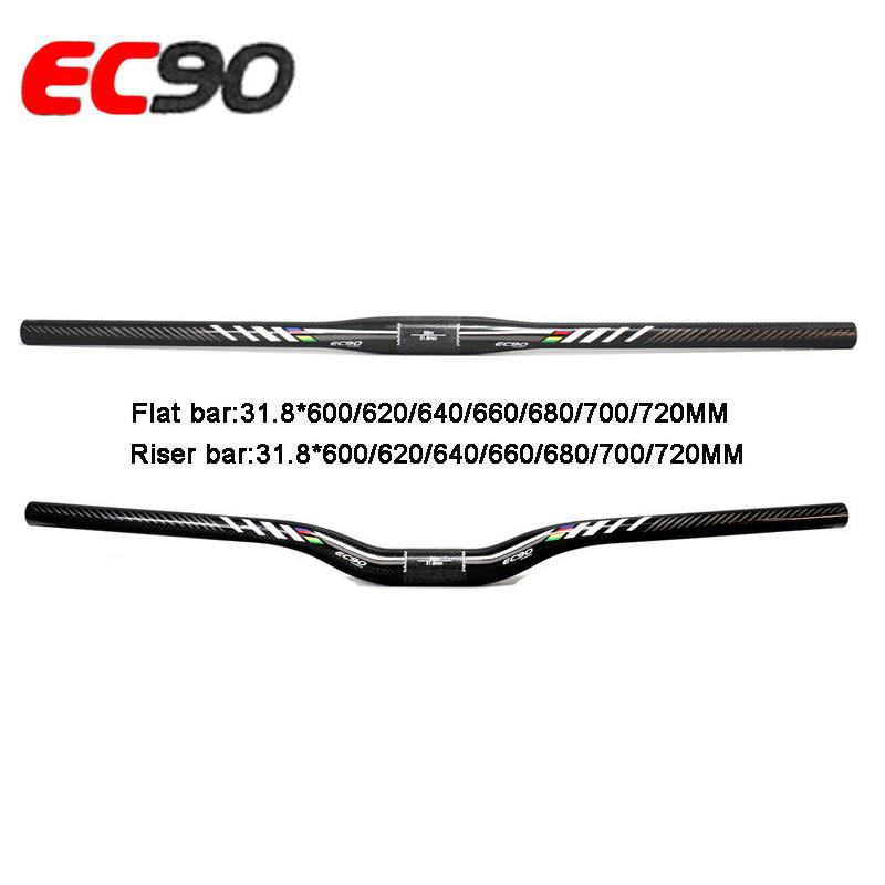 T800 carbon fiber MTB 31.8 mm Flat bar Rise handlebar 600 620 640 660 680 700 mm