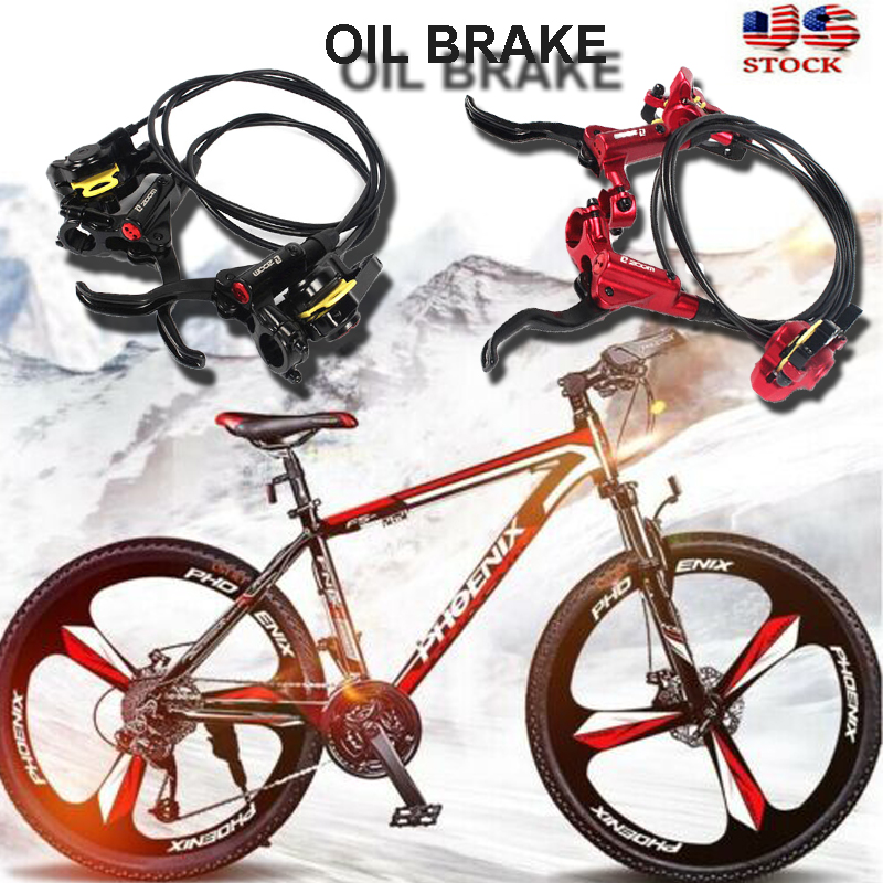 Bike Hydraulic Disc Brakes Calipers Front Rear Brake lever Floating Rotor 160mm