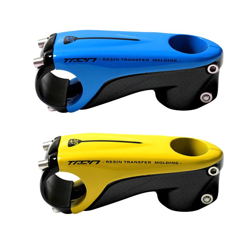 Full Carbon 3K 7° MTB Road Bike handlebar stems Bicycle bar Stem 31.8*60-130mm
