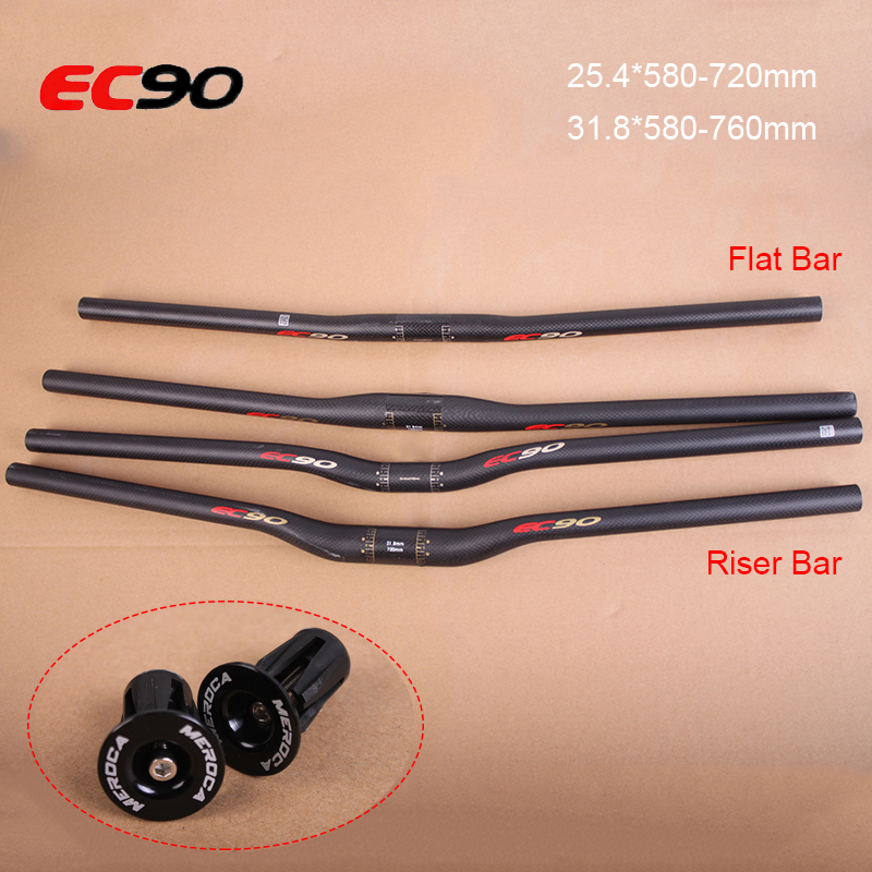 Carbon Fiber Mountain Bike Riser Bar 31.8mm*750//820mm Cycling Bicycle Handlebars