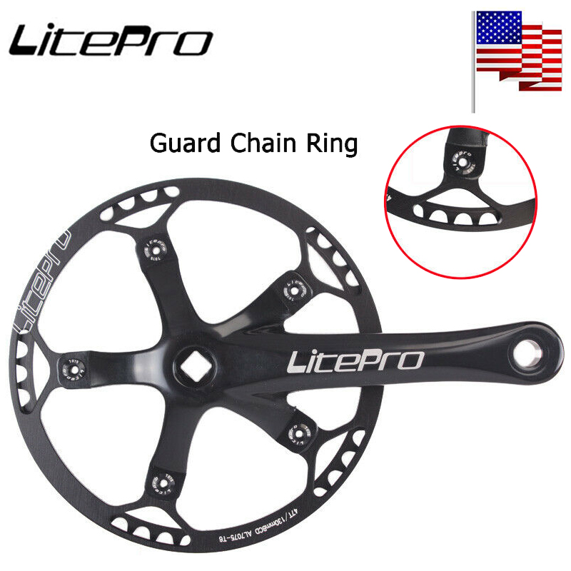 Litepro 170mm 130BCD Crankset 5 Arm 45-58T Chainring Road Folding Bike Sprocket