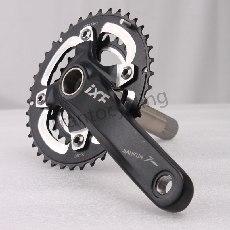 MTB Bicycle 11 Speed Crankset Double Chainset 26//38T Aluminum Alloy 170mm Crank